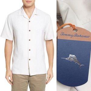 Tommy Bahama Pacific Floral Silk Camp Shirt sz XL